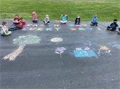 sidewalk chalk image