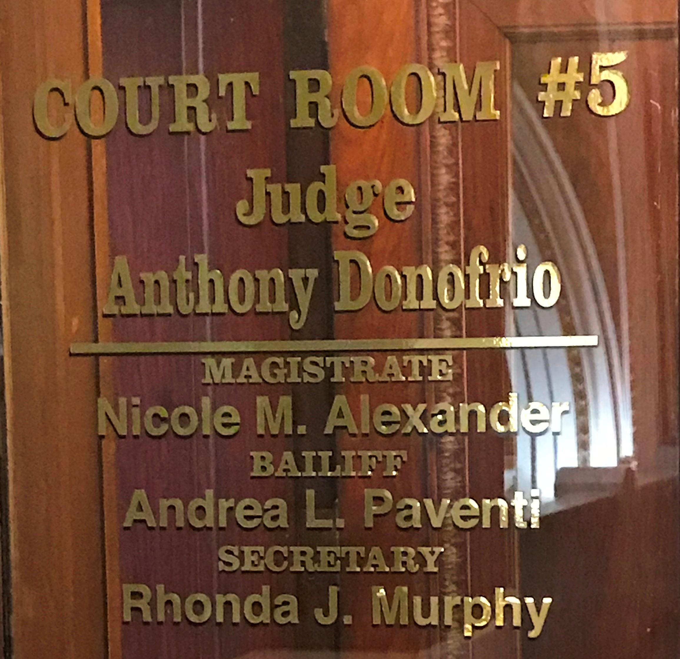 judge anthony donofrio door